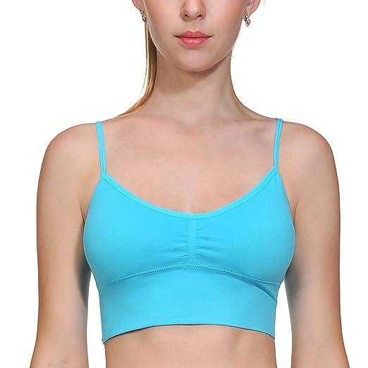 50e529bac0 ACtex Women s Sport Bra Absolute Comfort-Blend Flex Fit Pullover Workout Yoga  Bras Blue