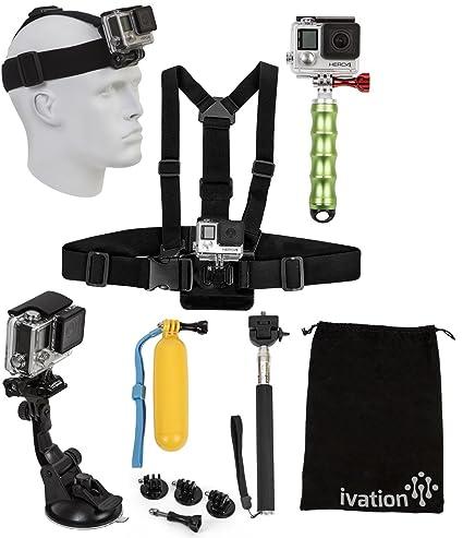 Ivation Kit de accesorios para GoPro Cámaras - incluye arnés + ...