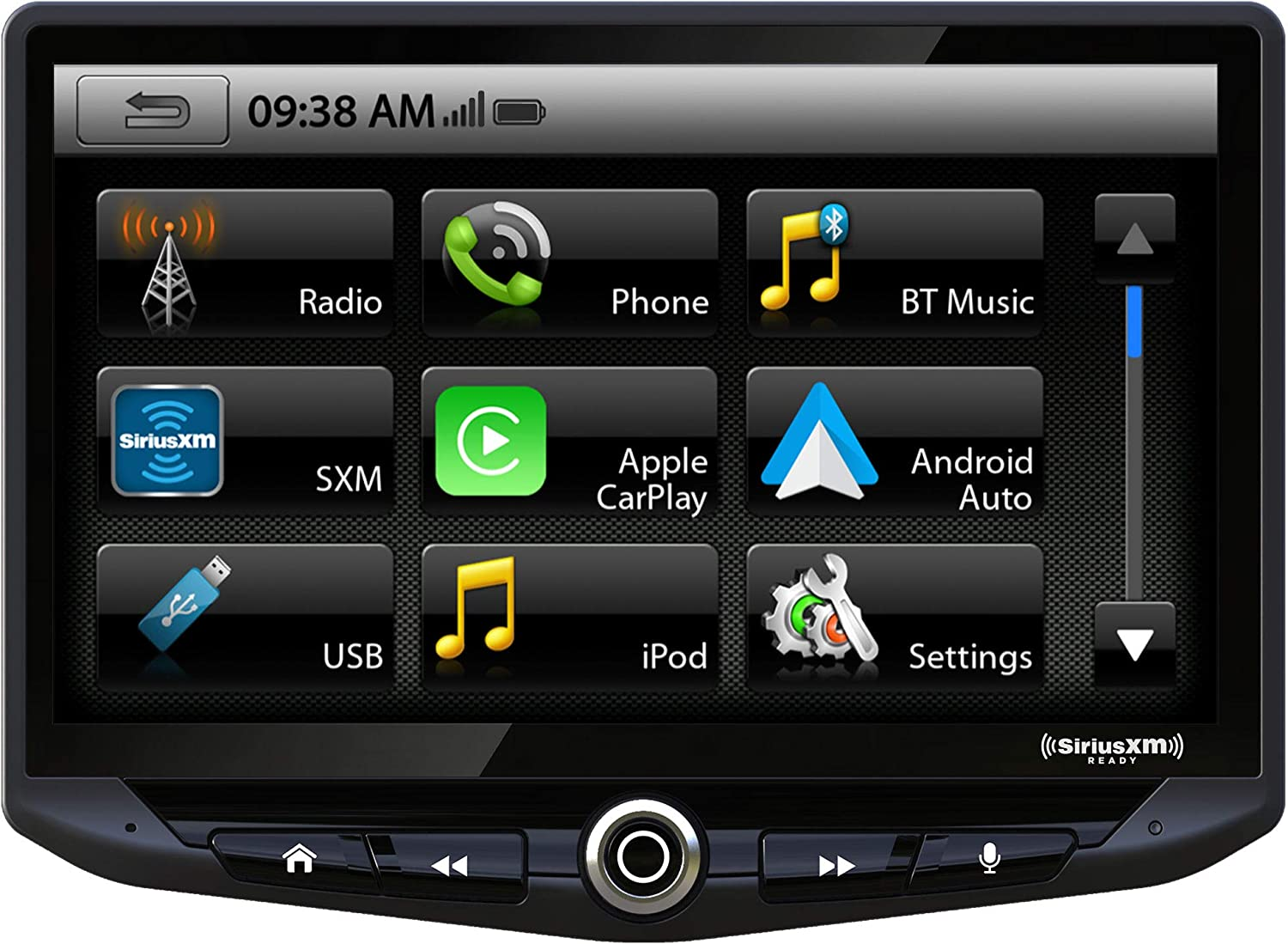 "Stinger HEIGH10 10"" Multimedia Car Stereo 1024 x 600 HD Display. Apple Car Play, Android Auto, SiriusXM Ready, Bluetooth, TOSLINK Audio Output & HDMI Rear Input, Single/Double DIN Mounting"