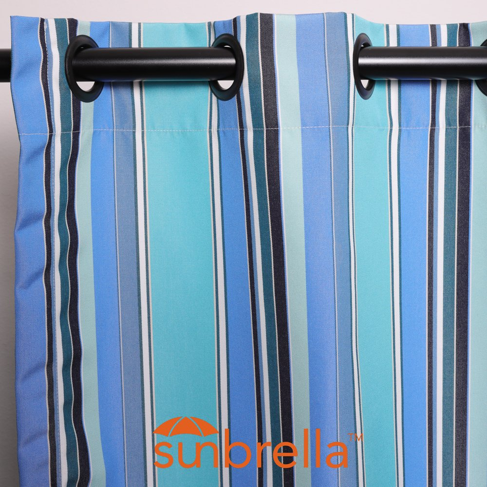 Sunbrella Outdoor Curtains with Grommets 50x108 (Dolce-Oasis)