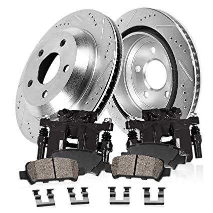 Front Brake Calipers Rotors /& Pads For 13WL 2001 2002 2003-2006 Sequoia Tundra