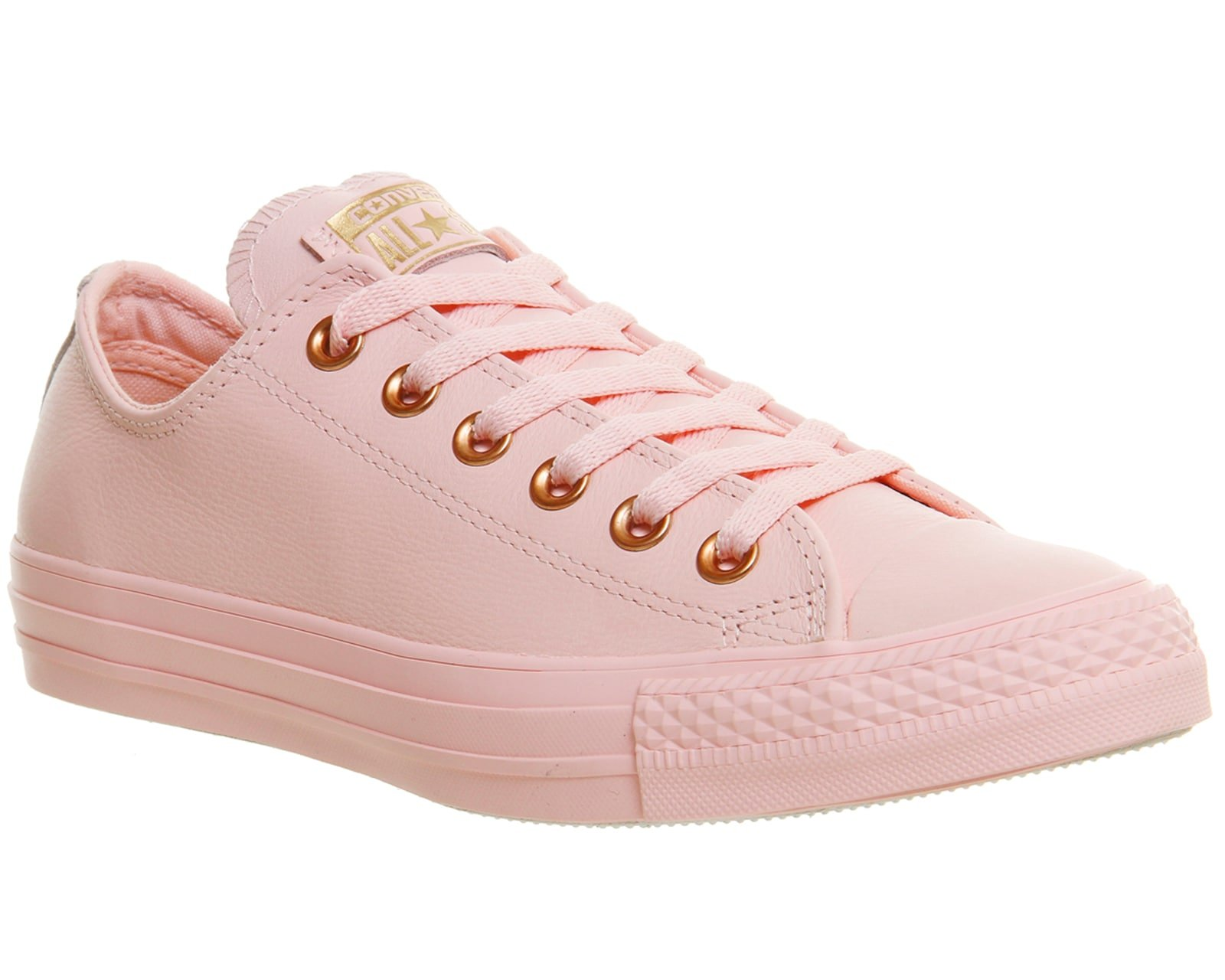 Converse Chuck Taylor All Star Lo Sneaker (Mens 6.5/Womens 8.5, Vapour Pink Rose Gold Snake Exclusive 9525)