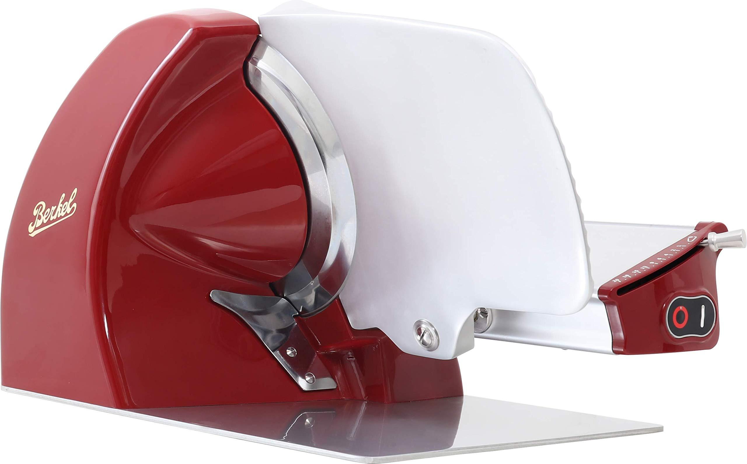 Berkel Home Line 250 Red Stainless Steel Electric Slicer by Berkel