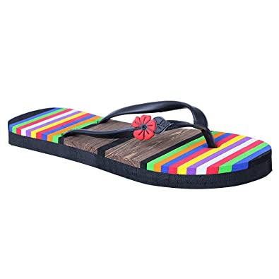 f50757c5e HD Multi Color Casual Rubber Flip-Flop Slippers for Women  Buy Online at  Low Prices in India - Amazon.in
