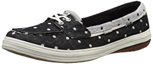 Keds Women's Glimmer Fashion Sneaker, Black Dot, 8.5 M US