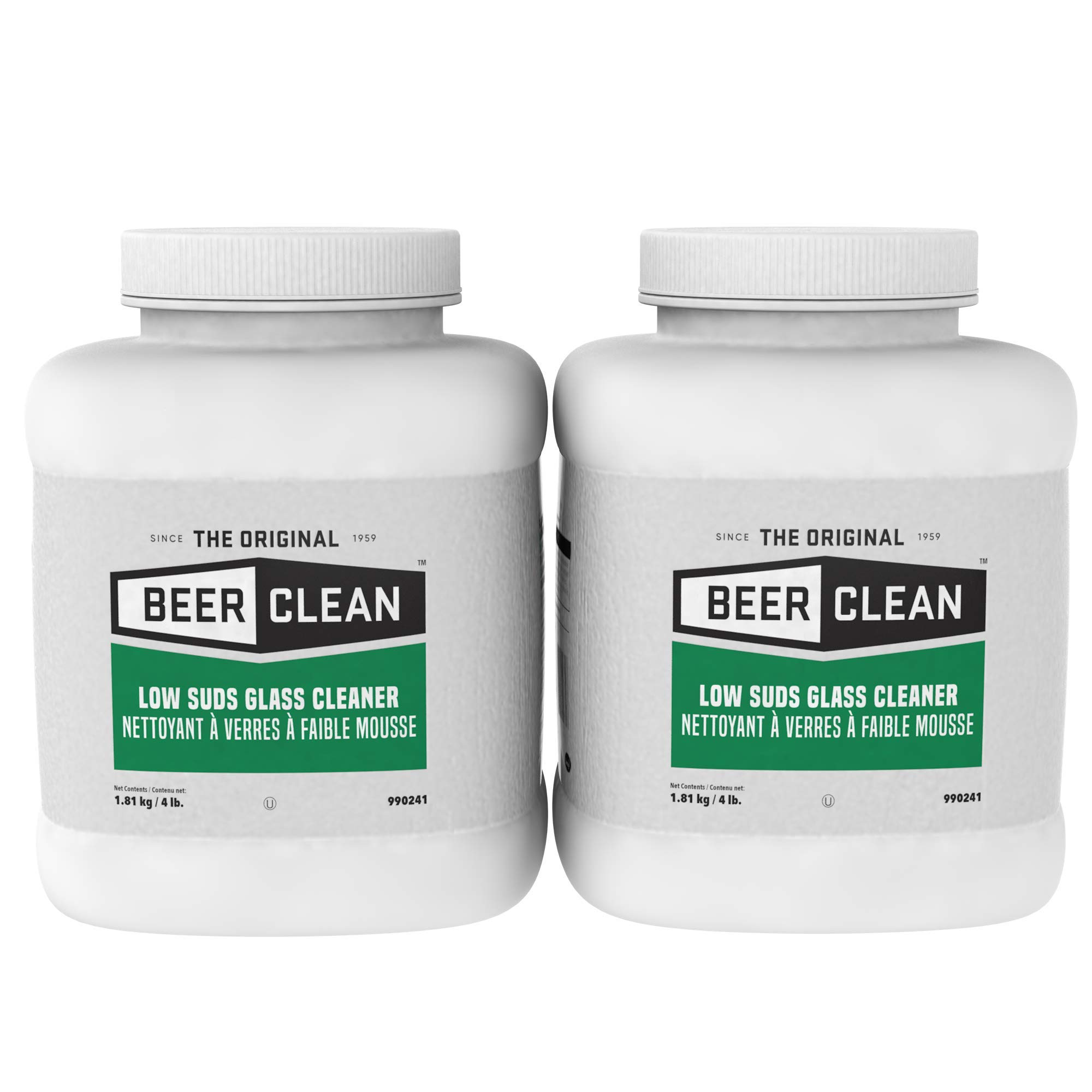 Diversey Beer Clean Low Suds Glass Cleaner (4-Pound, 2-Pack) by Diversey
