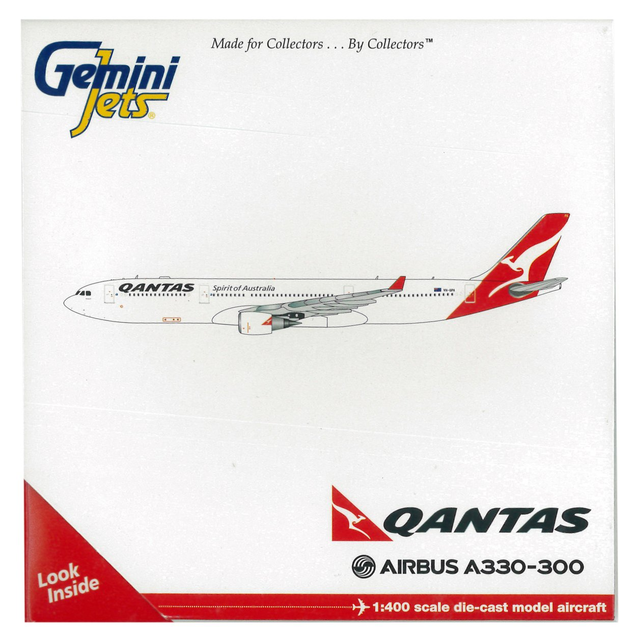 37736482dcab Amazon.com  GeminiJets Qantas A330-300 Die-Cast Aircraft (1 400 Scale)   Toys   Games