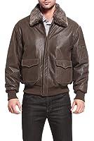 "Landing Leathers Men's ""Alex"" Leather Aviator Flight Jacket"