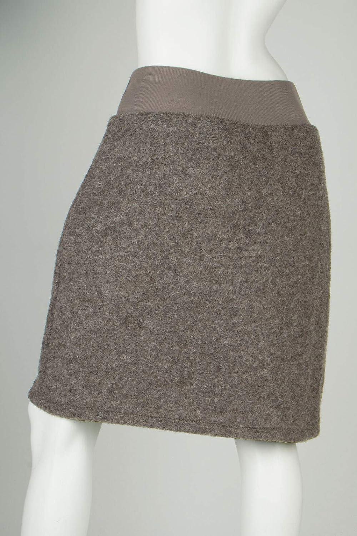 Woll-Rock Damen Kurz Stretsch-Bund Winter Viele Farben 38 40 42
