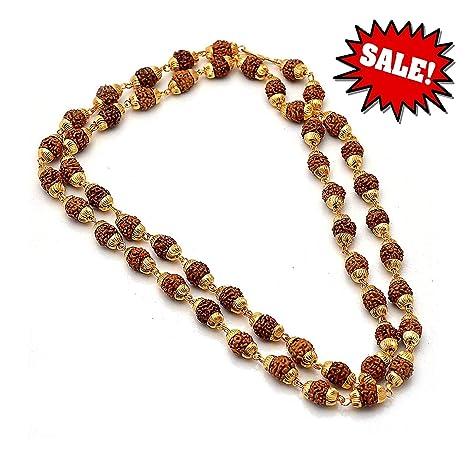 Rudraksha Mala Beads Divine| Rosario original de cuentas 100 ...