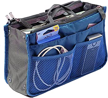 Hoxis Nylon Handbag Purse Organizer with Free Hoxis Gift Pouch