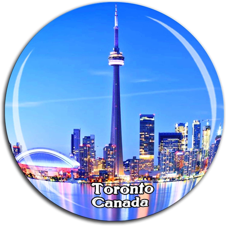 Amazon Com Cn Tower Toronto Canada Fridge Magnet 3d Crystal Glass Tourist City Travel Souvenir Collection Gift Strong Refrigerator Sticker Kitchen Dining
