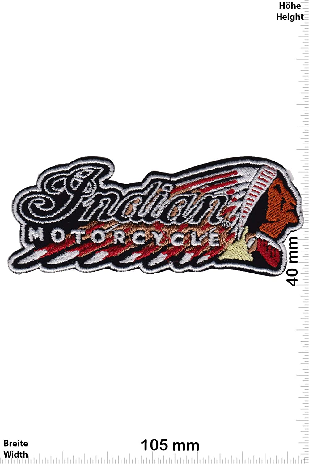 Patch - Indian Motorcycle - Indian - HQ -Sport Automobile - Sport -Moto -Indian -Indian - Iron on Applique Embroidery Écusson brodé Costume Cadeau- Give