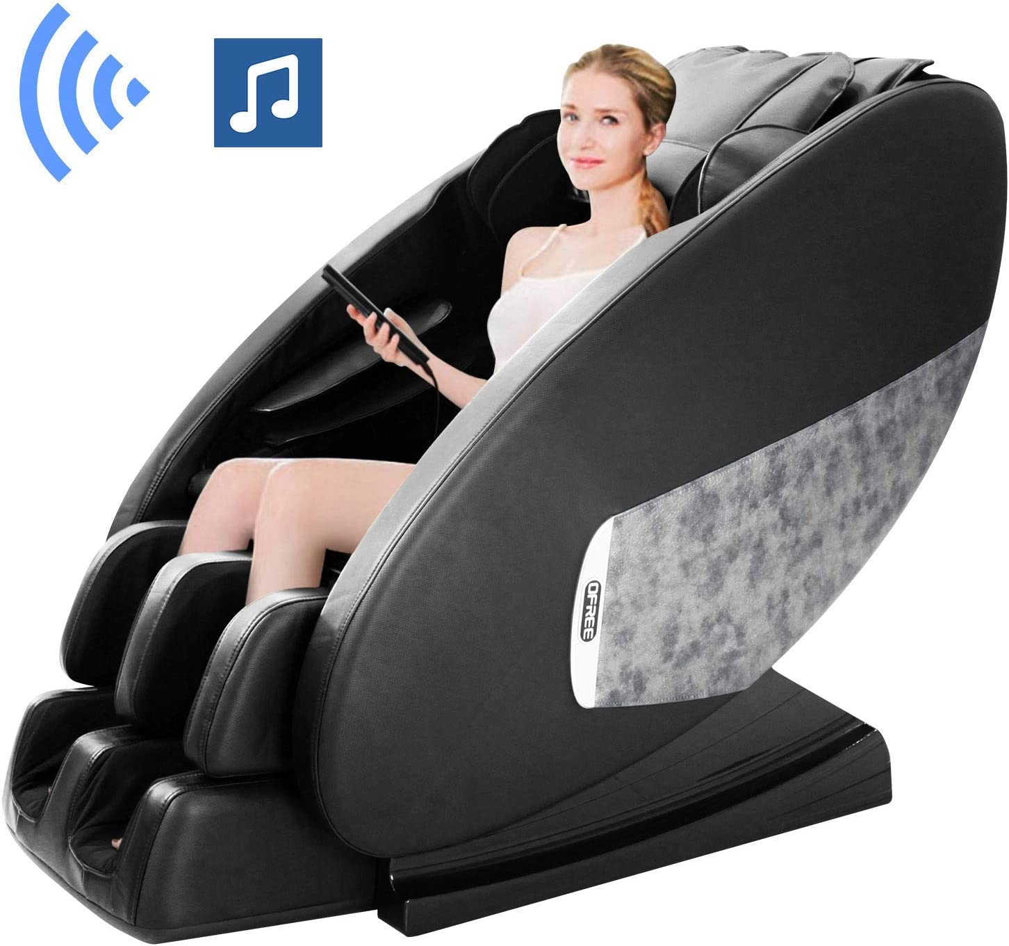 OOTORI Zero Gravity Massage Chair,Full Body Shiatsu Electric Massage Chairs with Vibration Heating Foot Roller