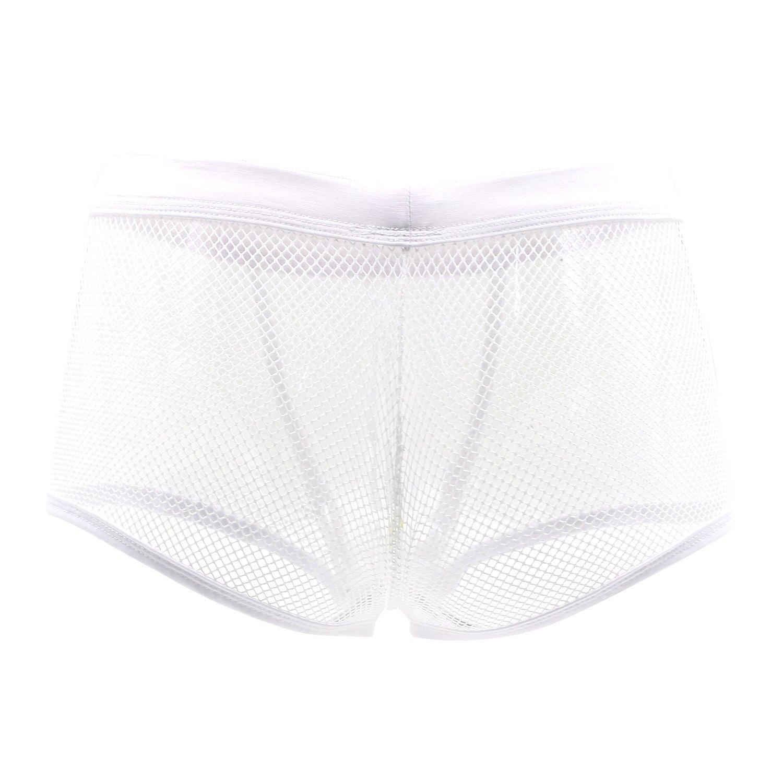 DDSCOLOUR Underwear Mens Sexy Mesh Boxer Briefs Pants Sheer See Through Underpants Lingerie