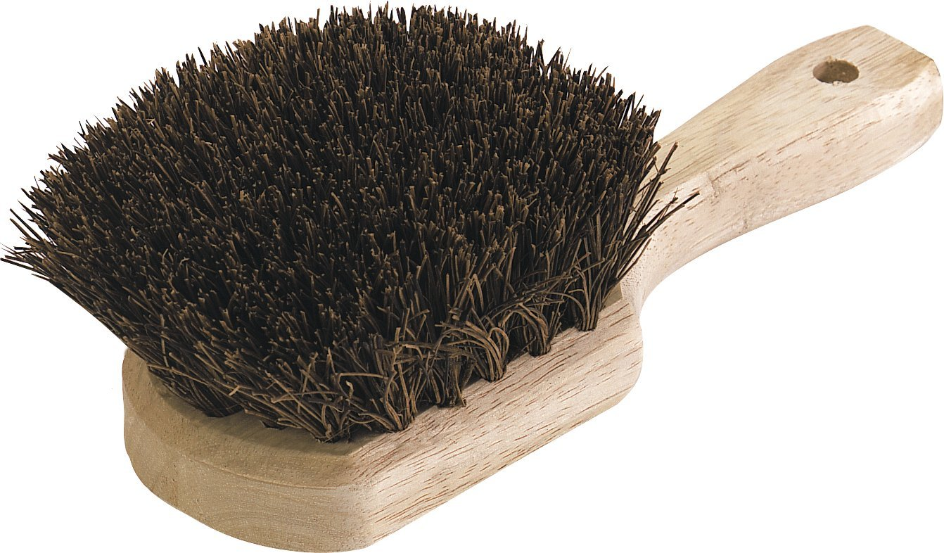 Carlisle 4546300 Sparta Utility Scrub Brush, Hardwood Handle, 1-5/8' Palmyra Bristles, 8-1/2' L x 4' W (Case of 12)