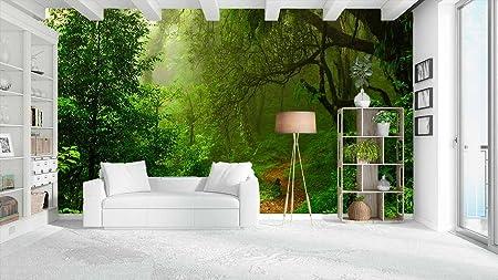 Fotomural Vinilo Pared Selva | Varias Medidas 200x150cm | Ideal para la decoración de comedores, Salones | Motivos Paisajisticos | Urbes, Naturaleza, Arte | Multicolor | Diseño Elegante: Amazon.es: Hogar