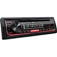 JVC KD-T702BT Autoradio CD Bluetooth avec Tuner Audio Haute Performance USB et Spotify Control Rouge 4 x 50 W