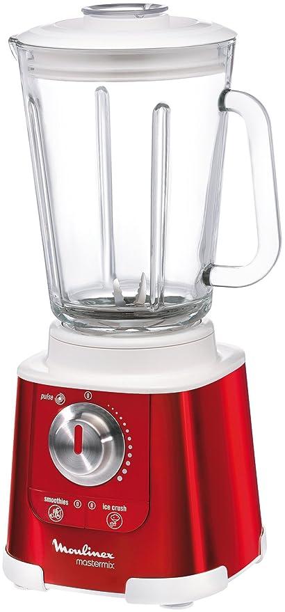 Moulinex LM800G Mastermix - Batidora de vaso, color rojo y blanco (Importado de Alemania)