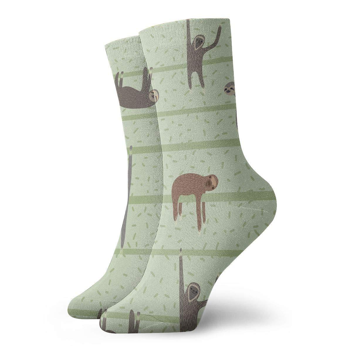 Women Men Cute Cartoon Sloths Pattern Cushion Ankle Socks