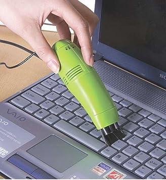 Ewin24 Paquete De 2 Mini Limpiador Usb teclado del vacío de limpieza Cepillo Para Pc Ordenador portátil con Led: Amazon.es: Electrónica