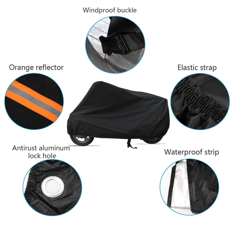 WisFox Housse de protection pour moto /étanche 210D r/ésiste aux intemp/éries ne laisse pas passer la poussi/ère ni les rayons UV