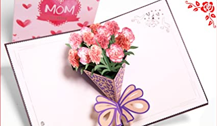 Amazon beautiful handmade 3d pop up greeting card for all beautiful handmade 3d pop up greeting card for all occasions with envelope for mom mothers day m4hsunfo
