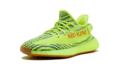 Adidas Yeezy Boost 350 V2 in green orange running shoes