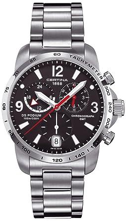 Certina 0 - Reloj de Cuarzo para Hombre, con Correa de Acero Inoxidable, Color Plateado: Amazon.es: Relojes