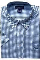 Nantucket Brand Men's Shortsleeve Button Down Gingham Shirt