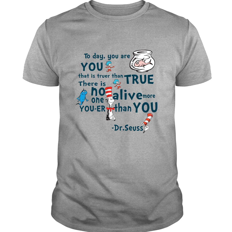 Robeni Grey Read Across America Day Dr Seuss T Shirt 1439