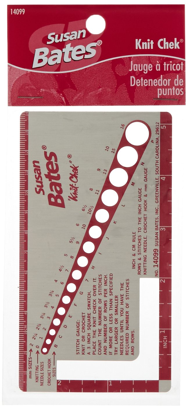Susan Bates Knit-Check for Knitting Needle, 3 by 5-1/2-Inch 14099