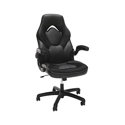 Awe Inspiring Ofm Essentials Collection Racing Style Bonded Leather Gaming Chair In Black Beatyapartments Chair Design Images Beatyapartmentscom