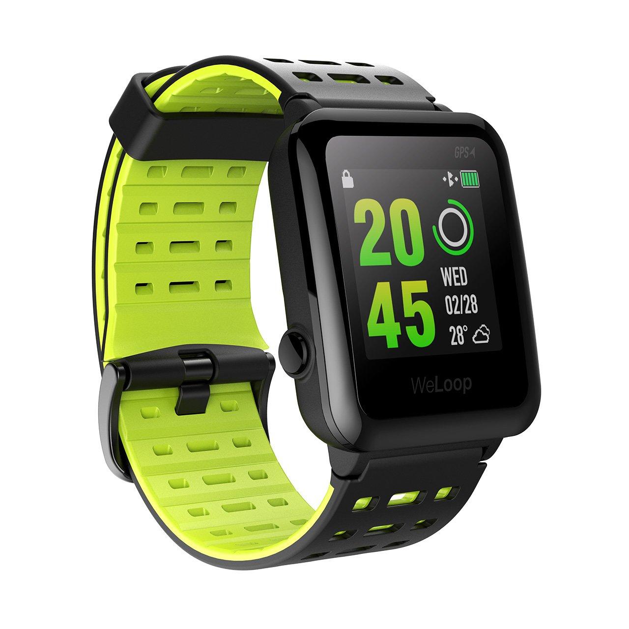 VICTSING Relojes GPS Deportivo Física con Ritmo Cardíaco Unisex, WeLoop Relojes Inteligentes Impermeable para Natación con Funciones como Pulsera de Actividad