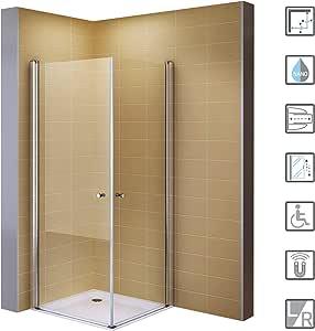 95 x 95 colgante puertas plegable cabina de ducha de esquina ...