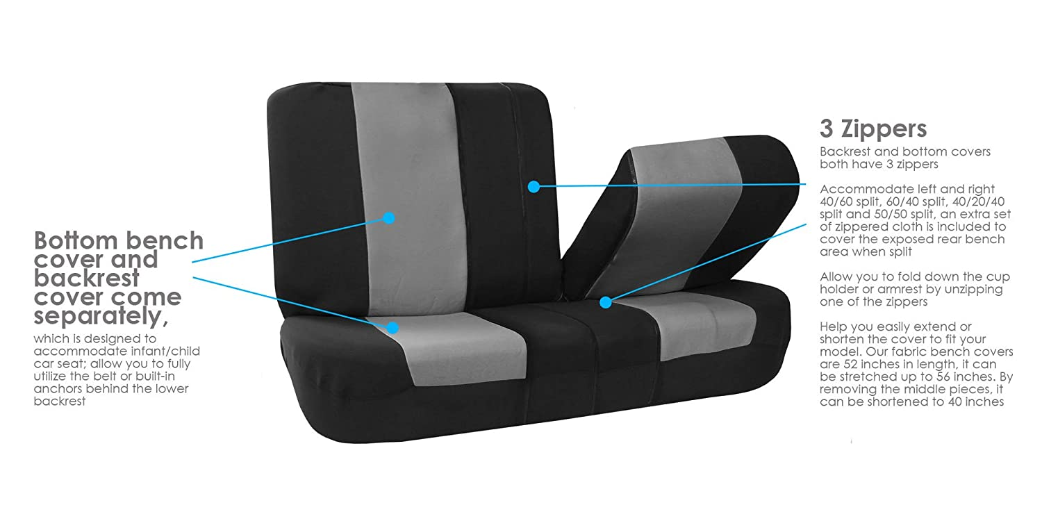 Magnificent Fh Group Fb051R010 Universal Split Bench Car Seat Cover Caraccident5 Cool Chair Designs And Ideas Caraccident5Info