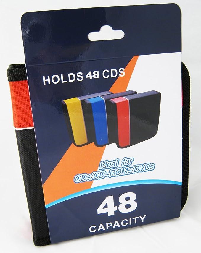4sgm porta Cd Disc Caja para Dvd Estuche Organizador de medios de comunicación libro Dj capacidad 48 nuevo!: Amazon.es: Electrónica