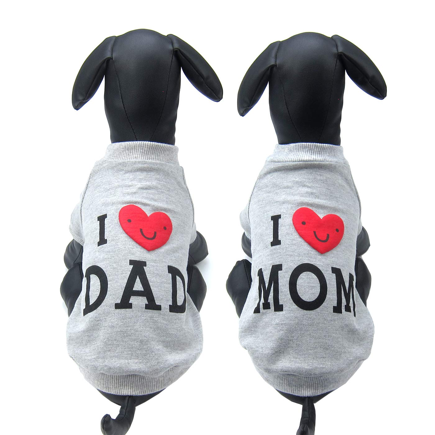 Grey Large Grey Large Alfie Pet Kiran T-Shirt Daddy and Mommy Set color  Grey, Size  Large