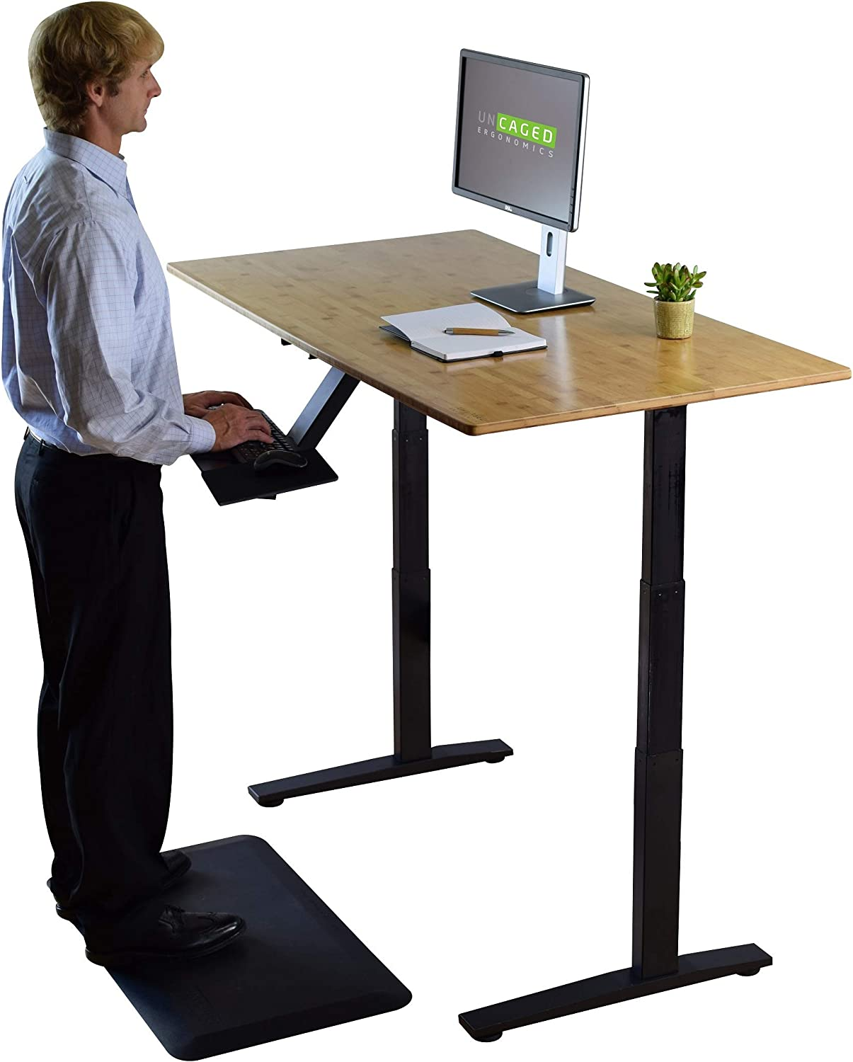 Amazon.com: Rise UP Dual Motor Bamboo Electric Standing Desk Small