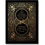IKONICK Cards You're Dealt Motivational Canvas Wall Art, Inspiration Collection for Office and Home Decor, Inspiring Canvas A