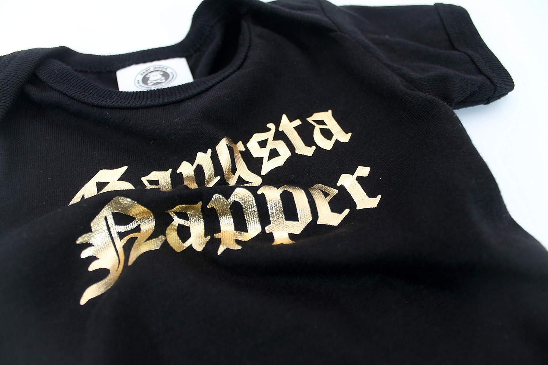 Gangsta Napper Funny Baby Grow//Cool beb/é chaleco de regalo//Body para beb/é Ni/ños o Ni/ñas por beb/é Moo negro negro Talla:0-3 Meses
