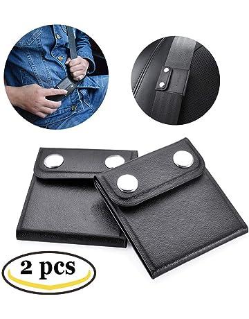 TUPSKY Positionneur Universel Pour Courroie D/épaule // Cou Couvre Ceintures de S/écurit/é de V/éhicule Ajusteur de Ceinture de S/écurit/é Pack de 4, Noir