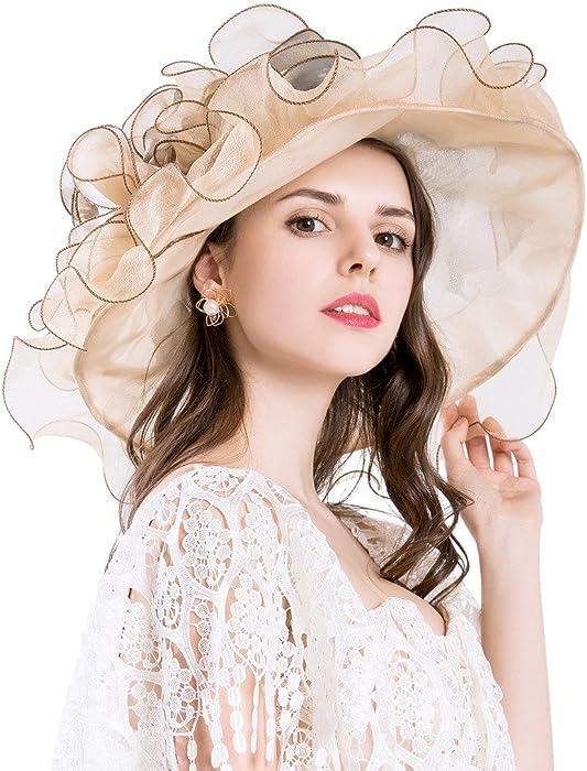 Kentucky Derby Hats for Womens British Tea Party Wedding Dress UPF 50+ 656e5f48f65
