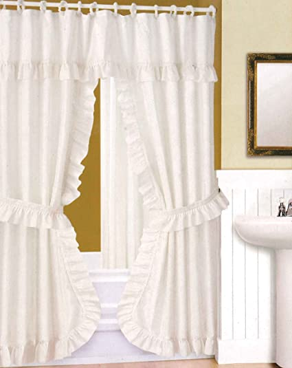 Image Unavailable Not Available For Color DOUBLE SWAG SHOWER CURTAIN