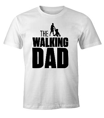 The Walking Dad Shirt Herren T-Shirt Fun Moonworks® weiß L