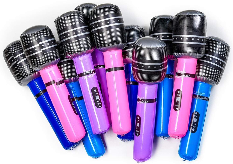 Amazon.com: Kicko - Micrófono hinchable inalámbrico de 10,5 ...