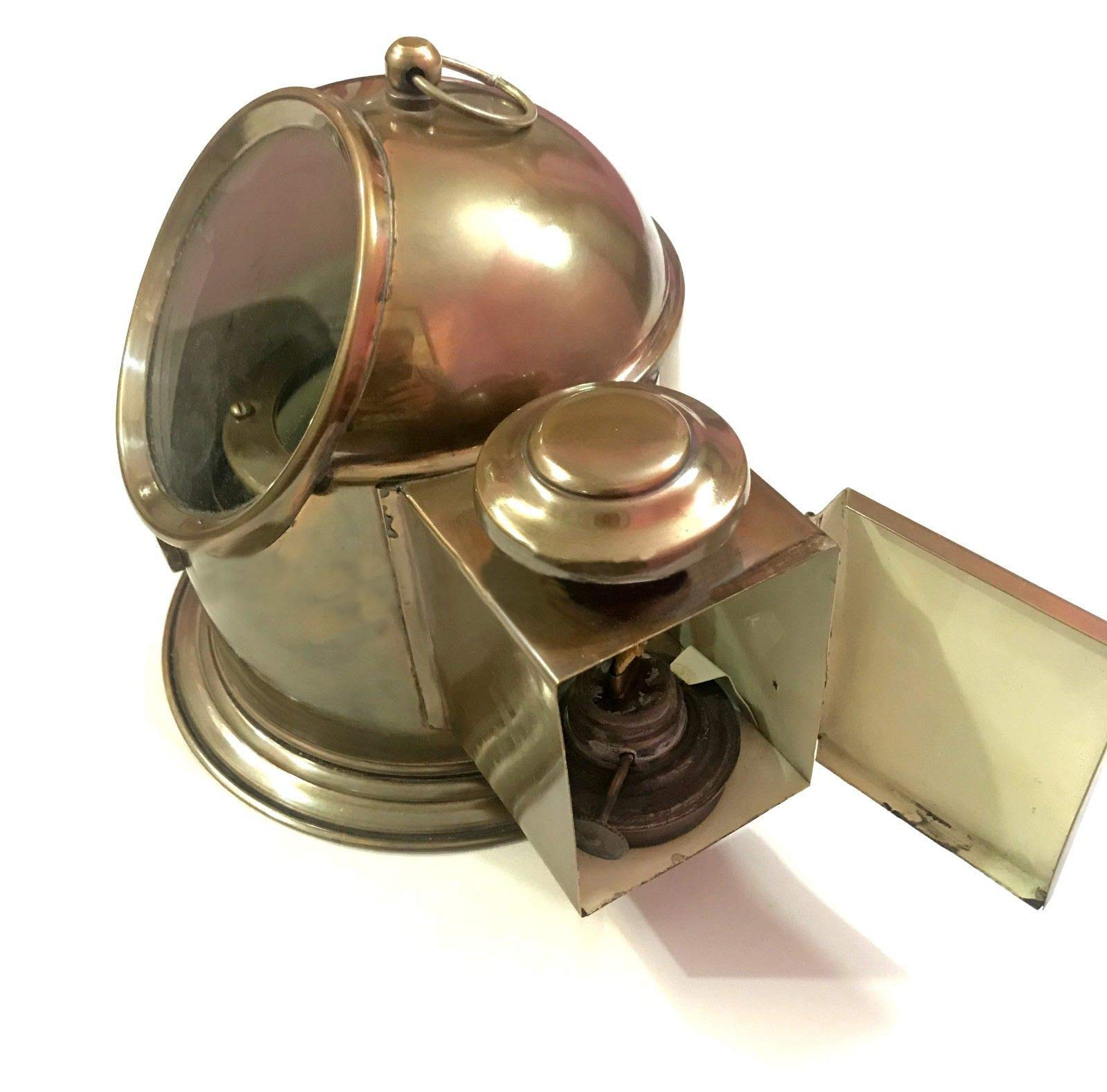 Antique Brass Floating Dial Binnacle Gimbled Compass Nautical Ship/Boat Oil Lamp by Antique (Image #3)