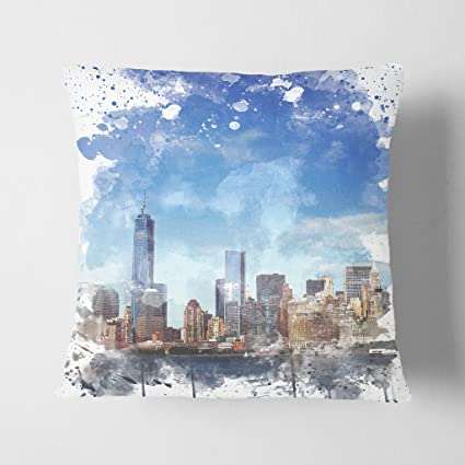 Arty Pie Manhattan New York con cielo Azul V3 doble cara ...