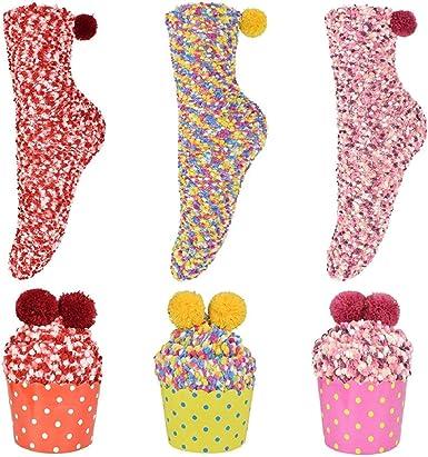 Calcetines para Navideños, BETOY 3 Pares Calcetines de Invierno ...
