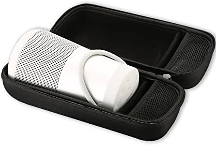 Bose SoundLink Revolve + Bluetooth Speaker Carrying Case, ProCase Travel Bag Shockproof Pouch Storage for Bose SoundLink Revolve + Plus Bluetooth Speaker, Fits Wall Charger and USB Cable –Black